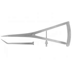 "Castroviejo Long Beak Caliper 7"" Ang With Screw"
